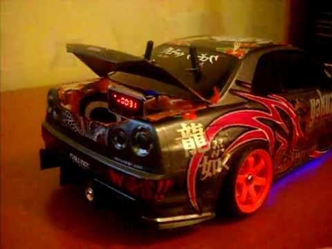 Rc Drift Nissan Skyline R Sound Youtube