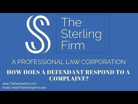 HOW DOES A DEFENDANT RESPOND TO A COMPLAINT YouTube