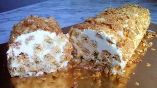 """Торт """"Полено"""" из Слоеного Теста (Очень Вкусно) / Слоеный Торт / Simple Cake Recipe / Простой Рецепт"""