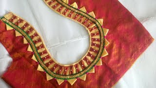 new model blouse designs cutting and stitching at home 2018