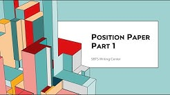 SBTS Writing Workshop: Quality Position Papers, Part 1
