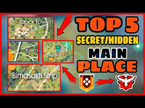 FREE FIRE || TOP 5 FRESH MAIN HIDDEN/SECRET PLACE || SECRET PLACE  || BERMUDA || FREE FIRE-BEAST IAS