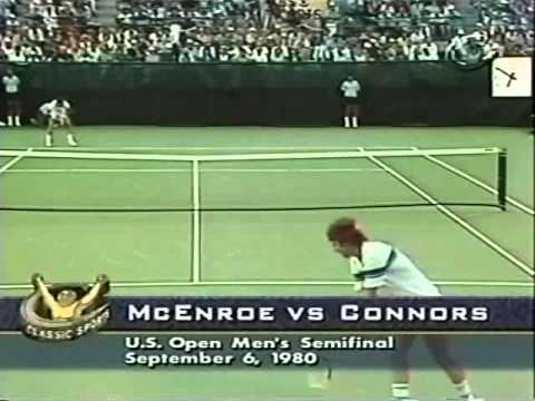 Jimmy Connors vs McEnroe Semi Final - US Open 1980