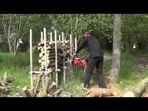 Cavalletto reggi legna e ceppi doovi for Motosega fissa