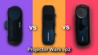 Best 720p Projector GP100 vs CL760 vs Alfawise X - Projector Wars EP2