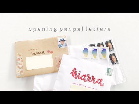 🍧 opening penpal letters #2