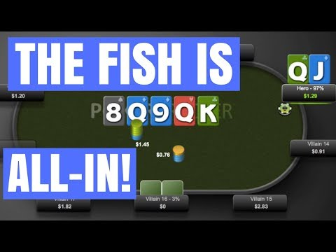 Poker FISH Goes ALL-IN And We Have TRIPS!