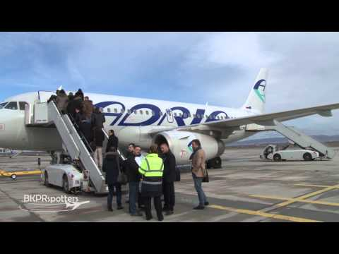 BKPRspotters - crosswind landings, take-offs, refueling and aircraft checks at the Pristina Airport