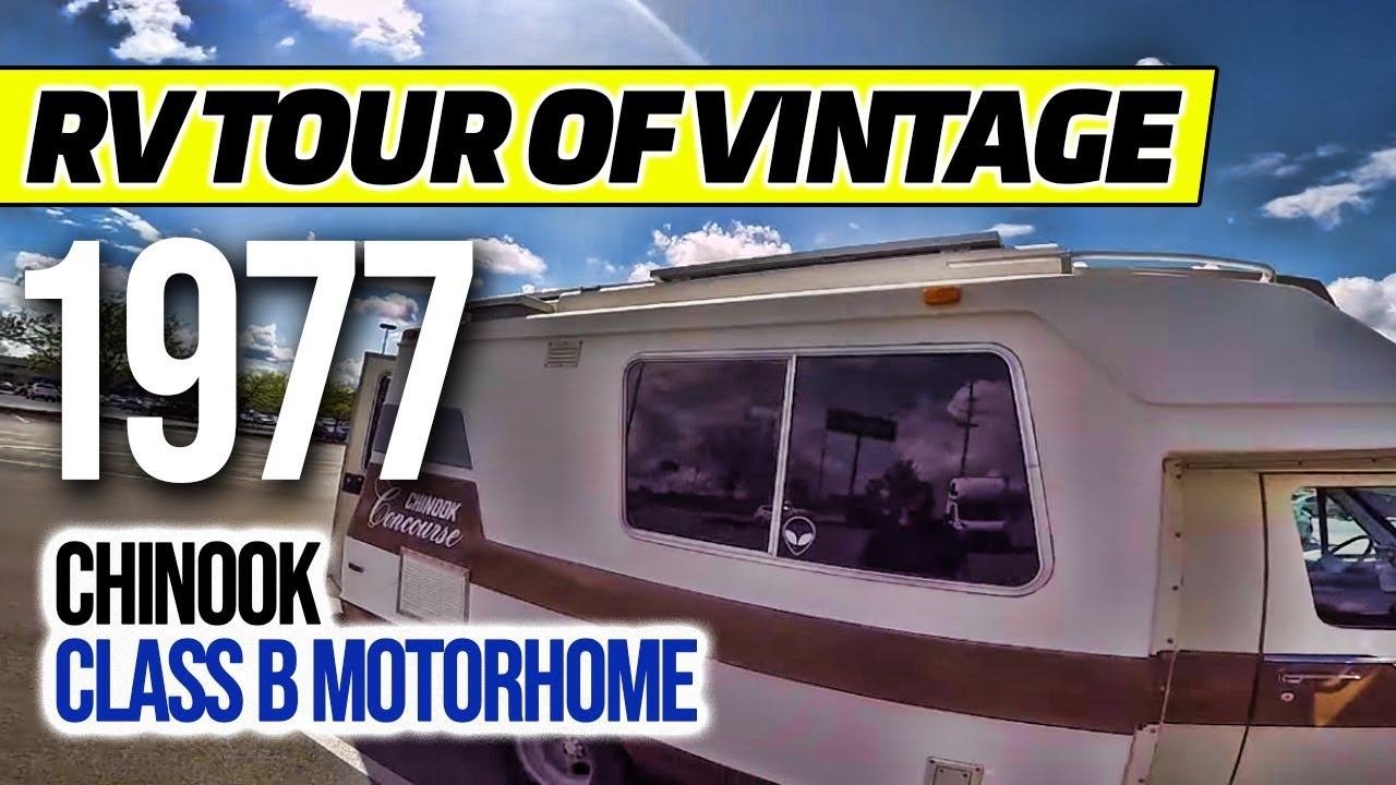 RV Tour Of Vintage 1977 Chinook Class B Motorhome