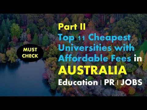 LIST OF CHEAPEST FEE UNIVERSITIES IN AUSTRALIA
