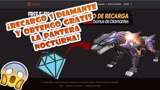 RECARGO 1 DIAMANTE Y OBTENGO LA PANTERA NOCTURNA GRATIS Y FACIL POR  PAGOSTORE