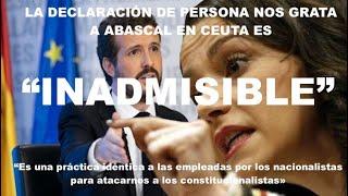 ¡TREMENDA BOFETADA DE ARRIMADAS A CASADO, DEFENDIENDO A ABASCAL EN CEUTA!