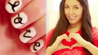 Valetine's Day LOVE Nail Tutorial! Quick & Easy! Thumbnail