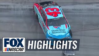 Bubba Wallace wrecks out of NASCAR All-Star Open race, not happy about it | NASCAR ON FOX HIGHLIGHTS