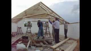 установка стропил |  roof rafters