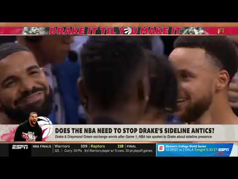 First Take: Stephen A. Smith Does The NBA Need To Stop Drake's Sideline Antics?