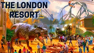 The London Resort NEW Concept Art - Dinosaur Area & TWO Roller Coasters!