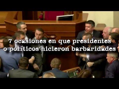 7 ocasiones en que presidentes y políticos hicieron barbaridades ante cámaras