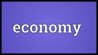Economy Meaning