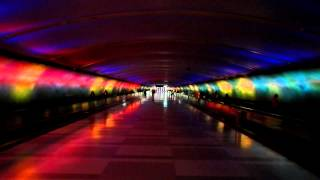 Detroit Airport lightning tunnel