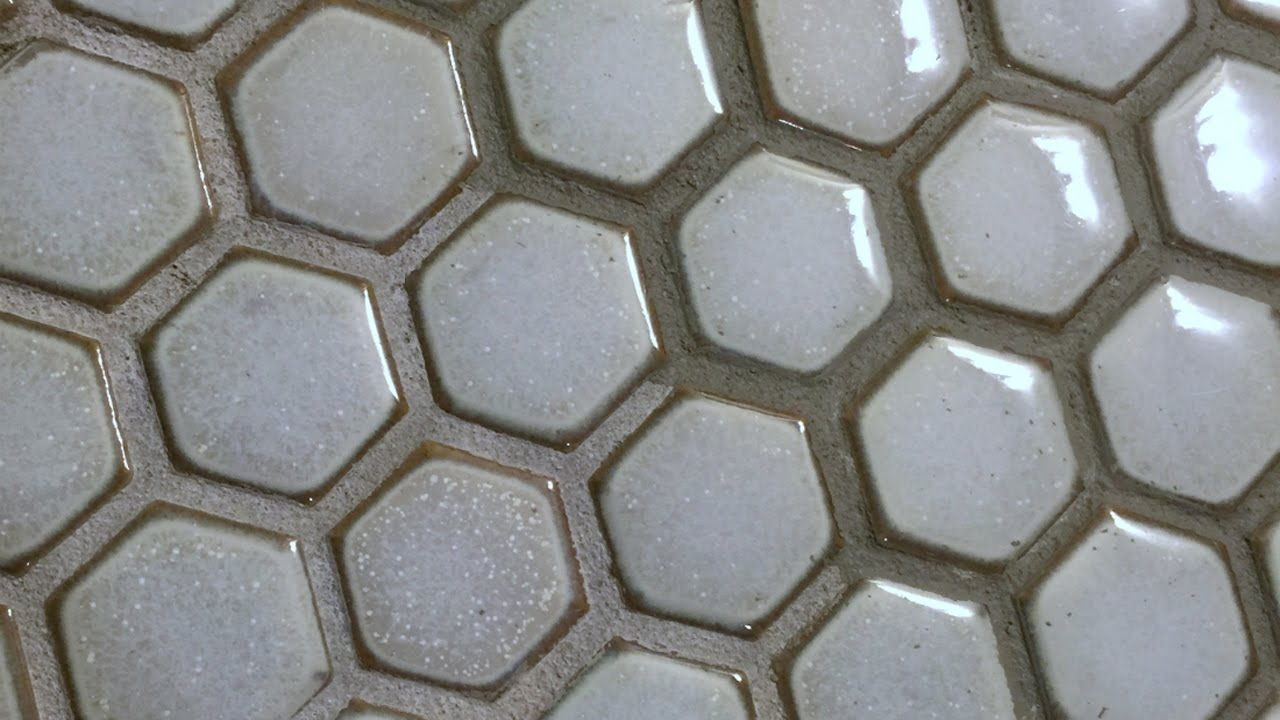 how to paint mosaic tile grout lines