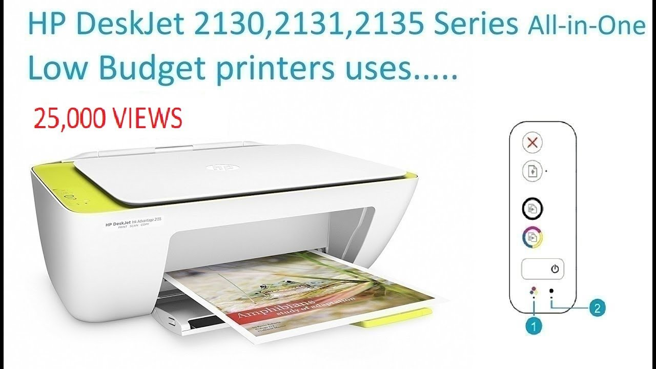 5ccc6794173c HP DeskJet Ink Advantage 2130 Series All in One Printer - YouTube