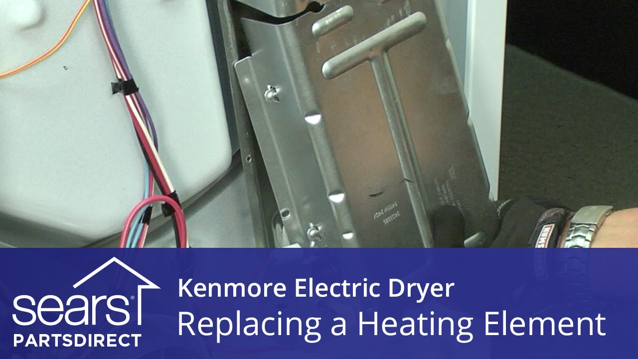 how to replace a heating element in an electric dryer repair guide kenmore dryer heating element wiring [ 1280 x 720 Pixel ]