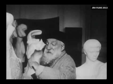 Auguste Rodin - Filmed Sculpting in his Studio (1915)