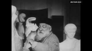 Auguste Rodin - Filmed Sculpting in his Studio (1915)