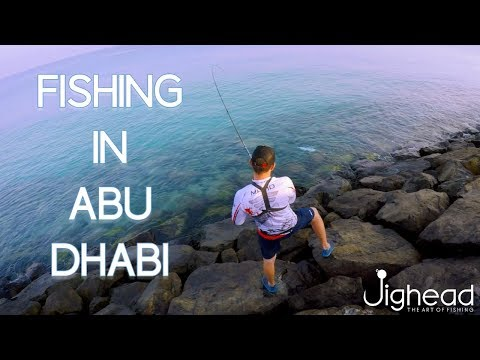 Fishing In Abu Dhabi - Shore Popping, Top Water Queefish Attack.