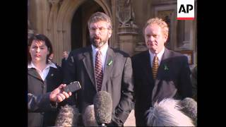 UK: LONDON: SPEAKER OF HOC TURNS DOWN SINN FEIN REQUEST