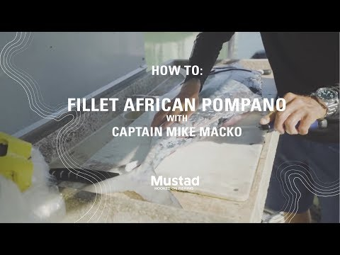 How to clean an African pompano, fillet