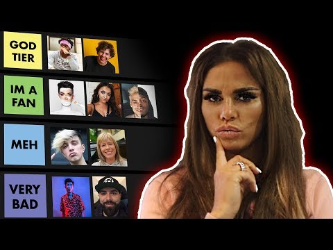 KATIE PRICE RATES THE YOUTUBER COMMUNITY (KSI, JAMES CHARLES & MORGZ)