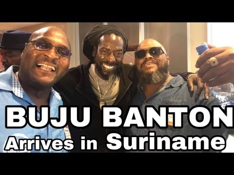 BUJU BANTON arrived at Suriname Air Port TO Special Nyabingi welcome - THROW BACK TO JAMAICA