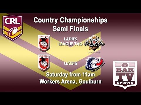 2018 Country Rugby League - U23s/LLT - SF - Illawarra v Wests Tights and Illawarra v Monaro Colts