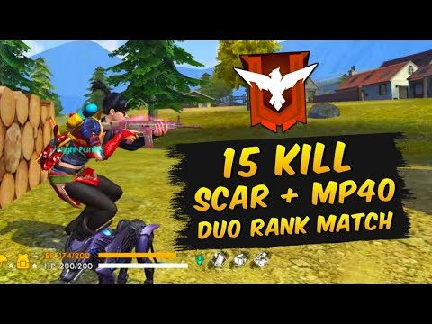RANKED 15 KILL DUO WAY TO HEROIC GAMEPLAY - GARENA FREE FIRE BRAZIL