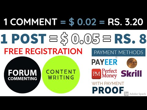 Earn Money By Commenting And Posting - BMF - Content Writing -FREE Registration - Payment Proof 2020