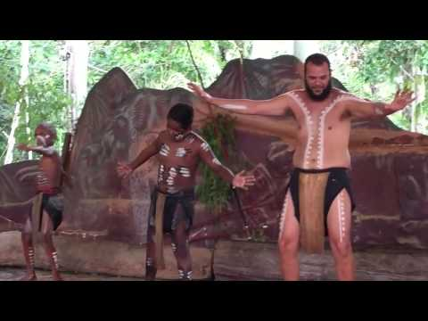 Kuranda, Indigenous Aboriginal dance show, Cairns, North Queensland, Australia, Iphone Camera thumbnail