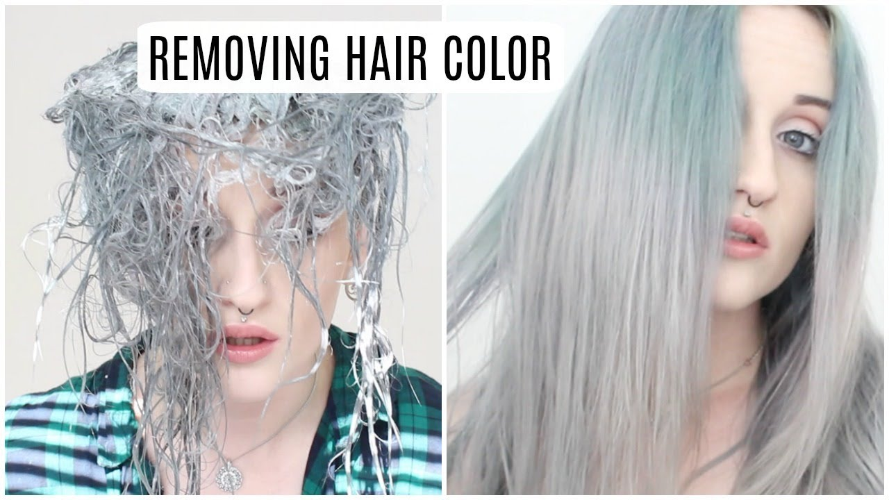 Removing Semi Permanent Hair Color Youtube