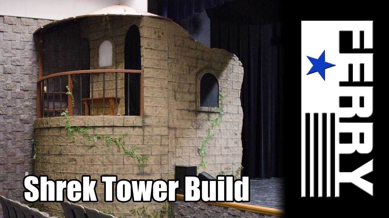 Ⓕ making styrofoam look like brick/stone - shrek theater build
