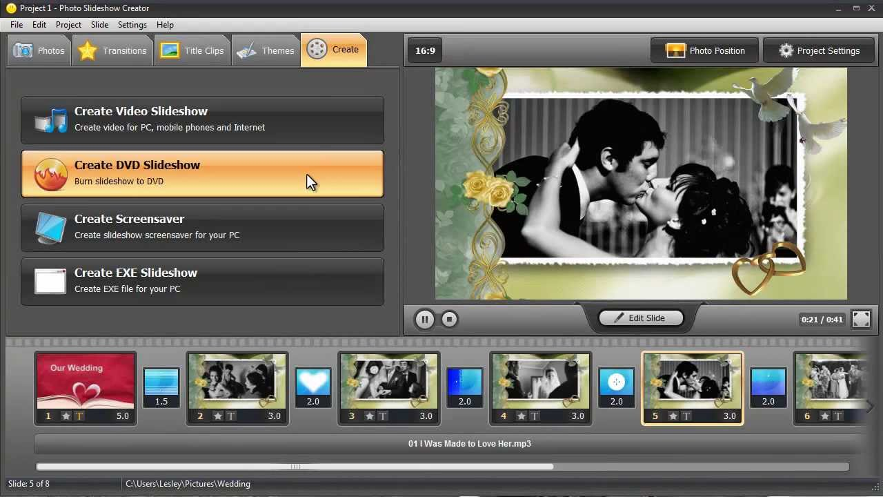 How To Create A Slideshow With Music Making An Original Wedding