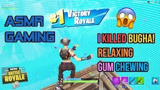 ASMR Gaming | Fortnite I Killed Bugha! Relaxing Gum Chewing 🎮🎧Controller Sounds + Whispering😴💤