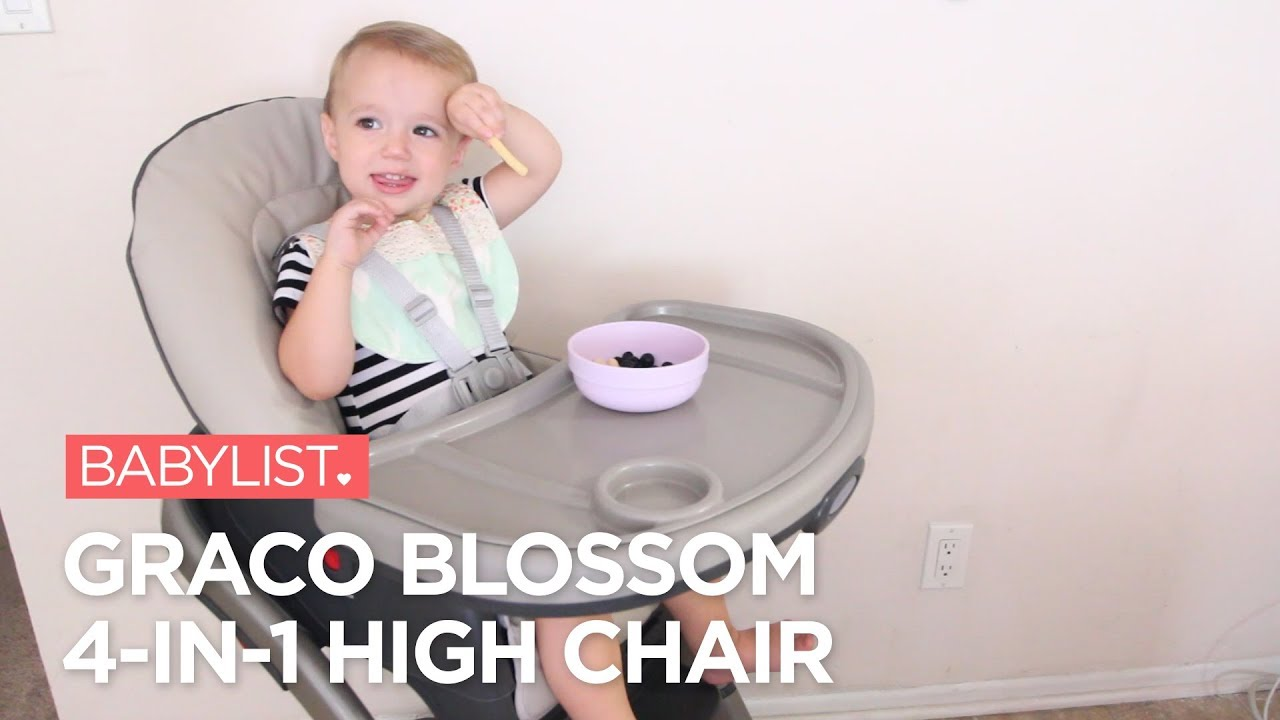 graco high chair 4 in 1 all one blossom review youtube