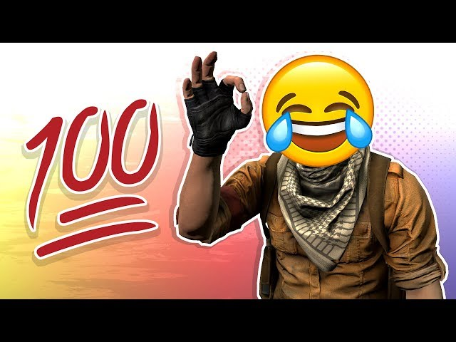 "CS:GO FUNTAGE! - ""100 Hundred"" Emoji, Door Stuck & Chicken Stuck! (CS:GO Funny Moments)"