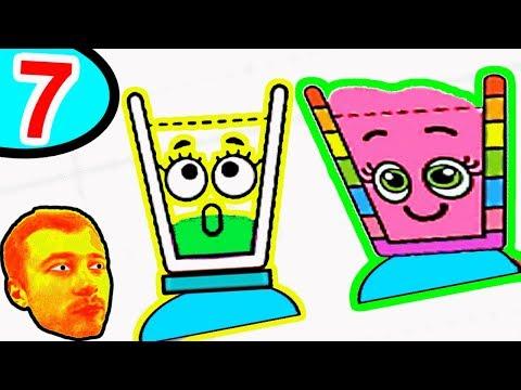 ПРоХоДиМеЦ и Стаканчик БУЛЬ-БУЛЬ собирают Воду! - #7 - Игра Happy Glass