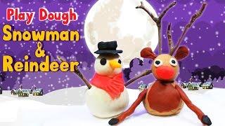 איש שלג ואייל מפלסטלינה