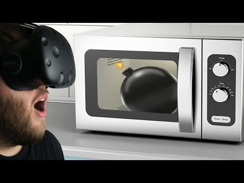 What Happens When You Microwave A Bomb? - Destroying Things In Virtual Reality - Disassembly VR