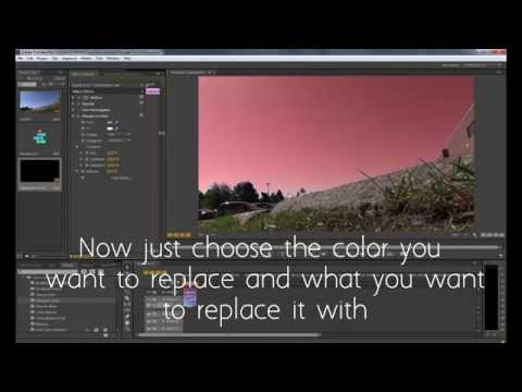 How to: Replace Sky or Change any Color in a Video PREMIERE PRO CS6 EASY-BASIC