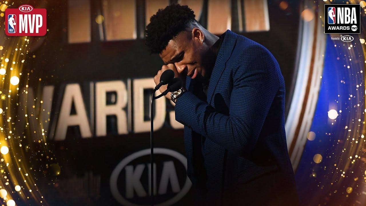 Giannis Antetokounmpo Gets EMOTIONAL During Kia MVP Speech | 2019 NBA Awards
