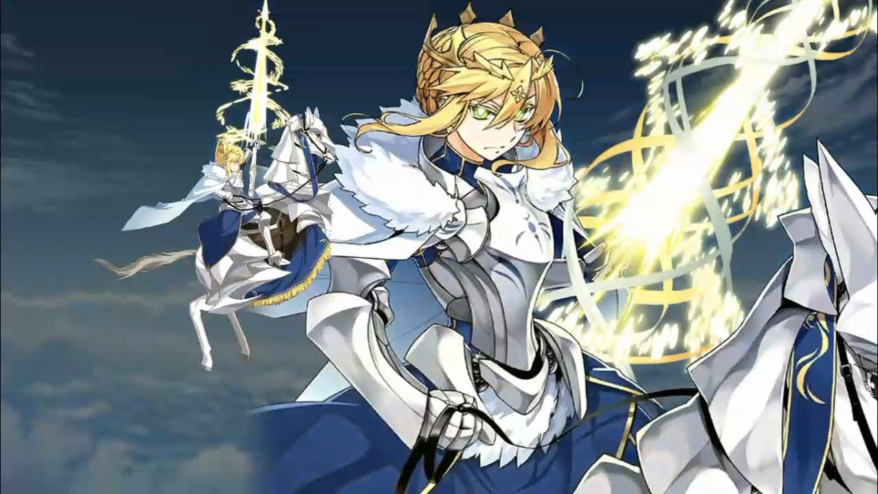 Fate Grand Order Altria Pendragon Lancer Lv90 Grand Battle Camelot Chapter 17 Final